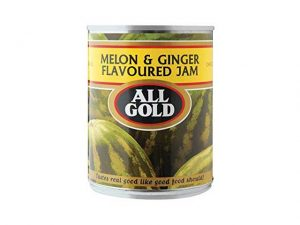 all gold melon and ginger flavoured jam