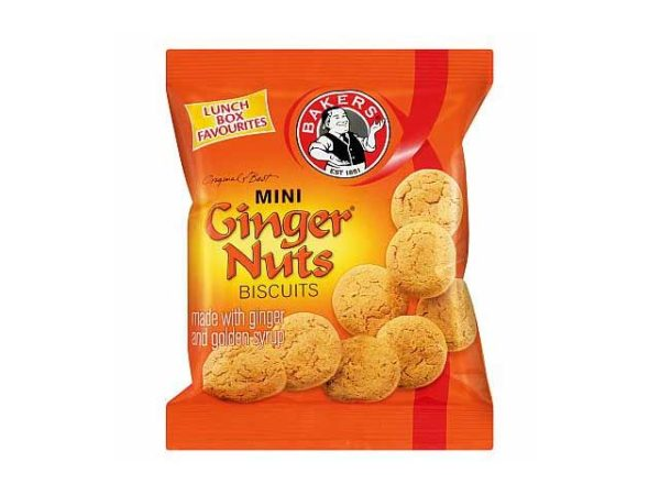bakers mini ginger nuts biscuits