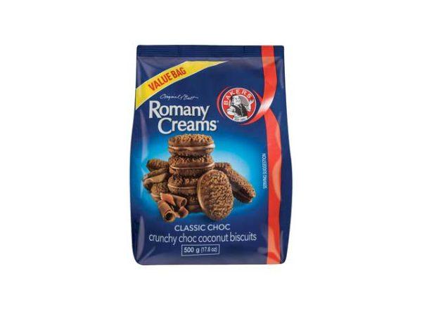 bakers romany creams classic chocolate bag