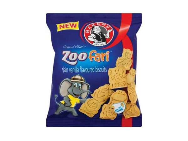 bakers zoo fari plain vanilla flavoured biscuits