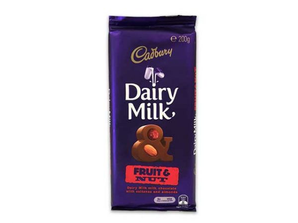 cadbury dairy milk fruit and nut large