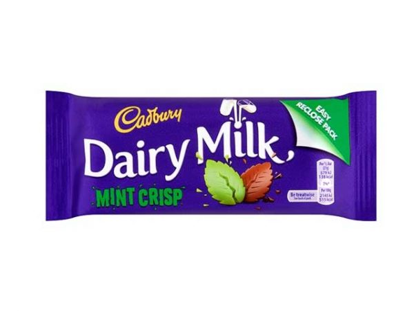 cadbury dairy milk mint crisp small