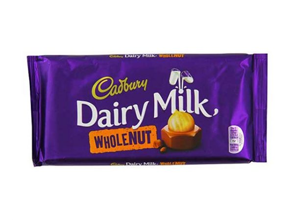 cadbury dairy milk whole nut large