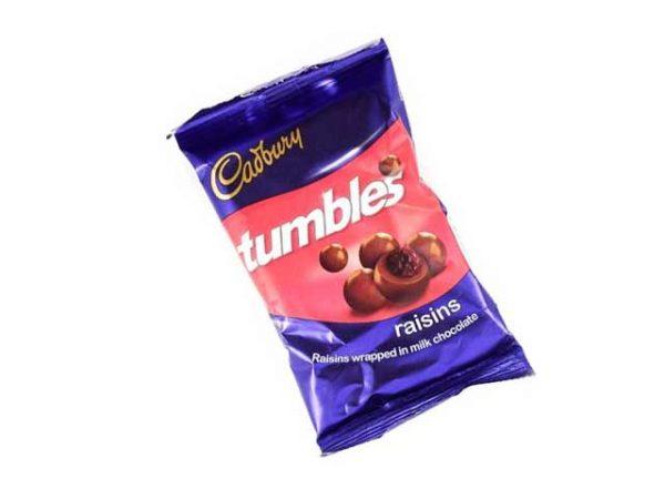 cadbury tumbles raisins