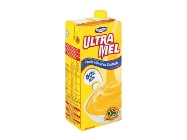 danone ultramel vanilla flavoured custard