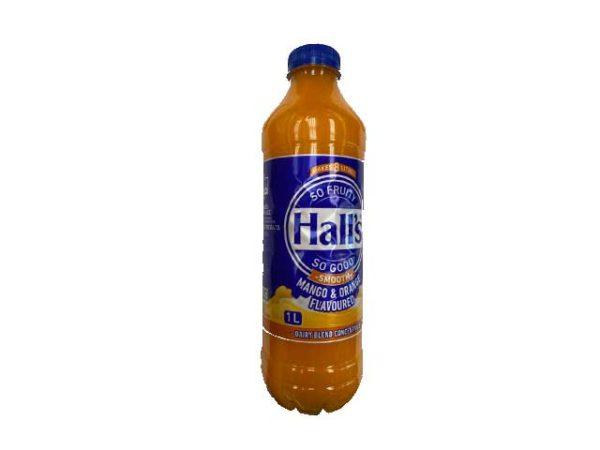 halls blended fruit drink mango and orange