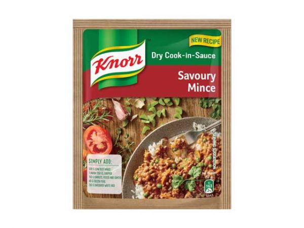 knorr dry cook in sauce savory mince