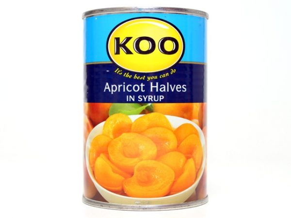 KOO APRICOT HALVES in syrup