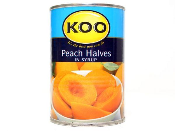 KOO PEACH HALVES in syrup