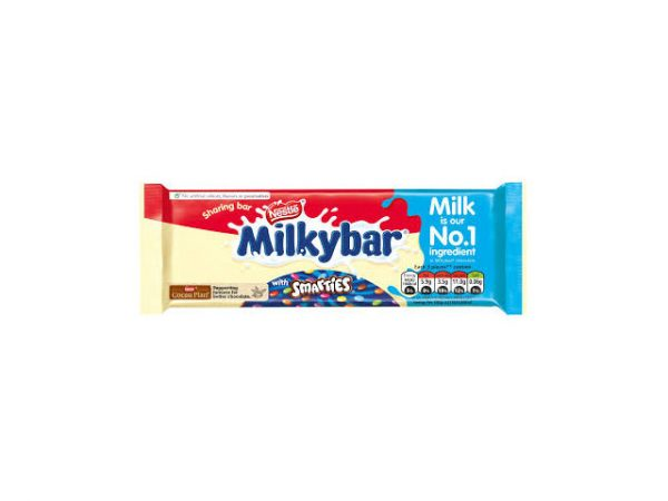 nestle milky bar with smarties