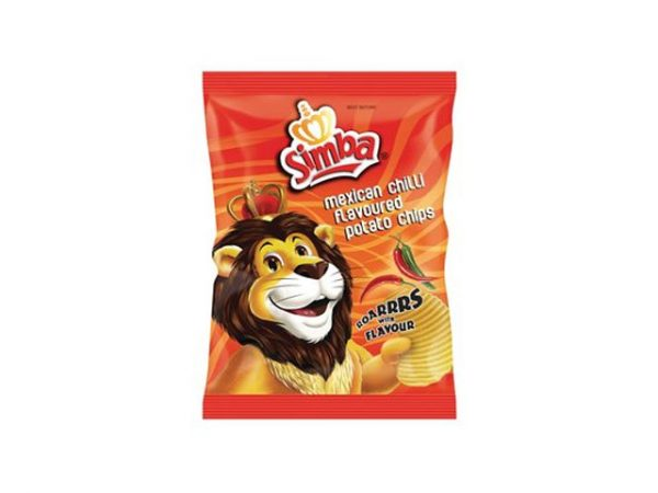 simba mexican chilli flavour potato chips