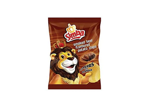 simba smoked beef flavour potatot chips