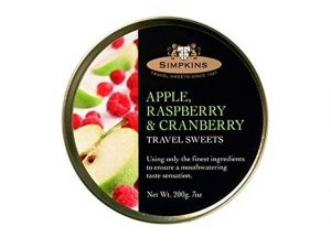 simpkins travel sweets apple raspberry and cranberry