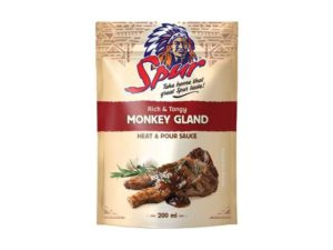 spur heat and pour sauce rich and tangy monkey gland