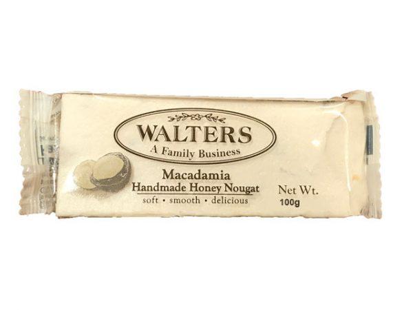 walters handmade honey nougat macedemia 100g