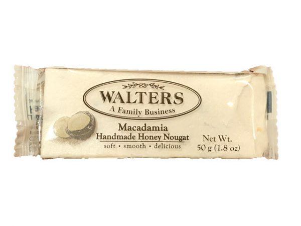walters handmade honey nougat macademia 50g