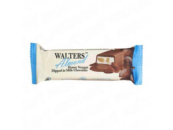 walters honey nougat dipped in dark chocolate almond