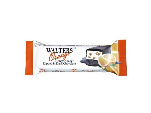 walters honey nougat dipped in dark chocolate orange